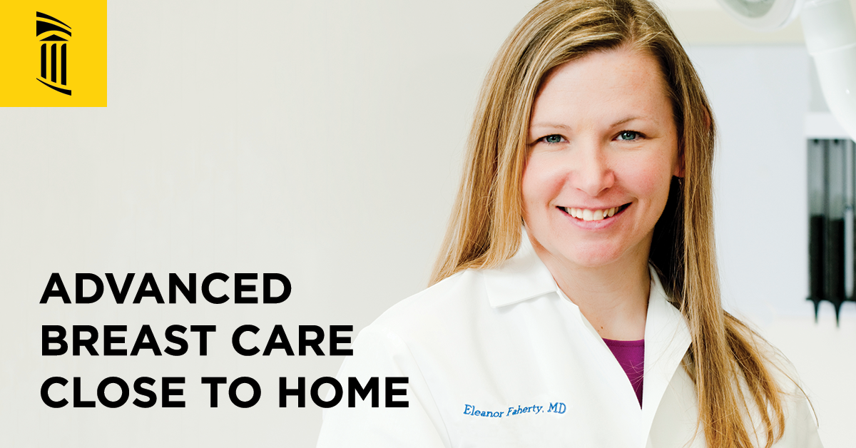 Advanced Breast Care in Southern Maryland. Dr. Eleanor Faherty.