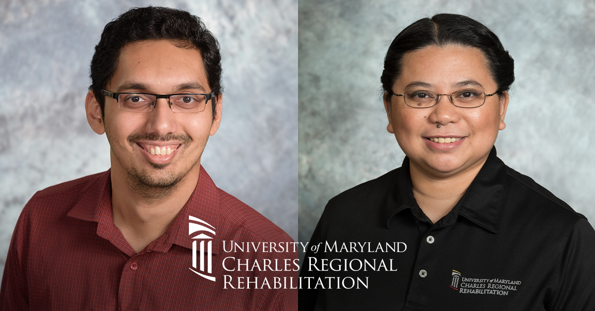 Photos of board-certified physical therapists at UM Charles Regional Rehabilitation