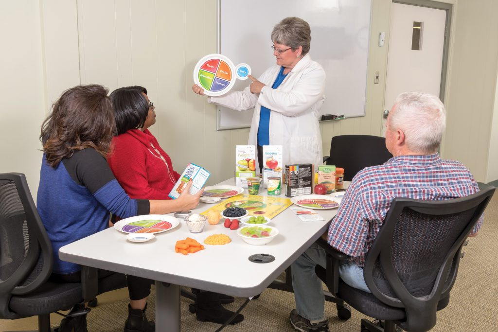Photo of group of people at UM Charles Regional Center for Diabetes Education class