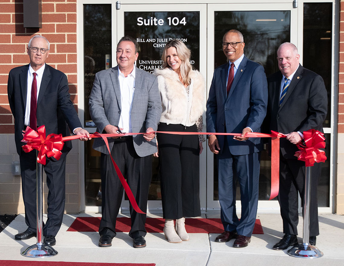 Photo of the dedication ceremony and ribbon-cutting