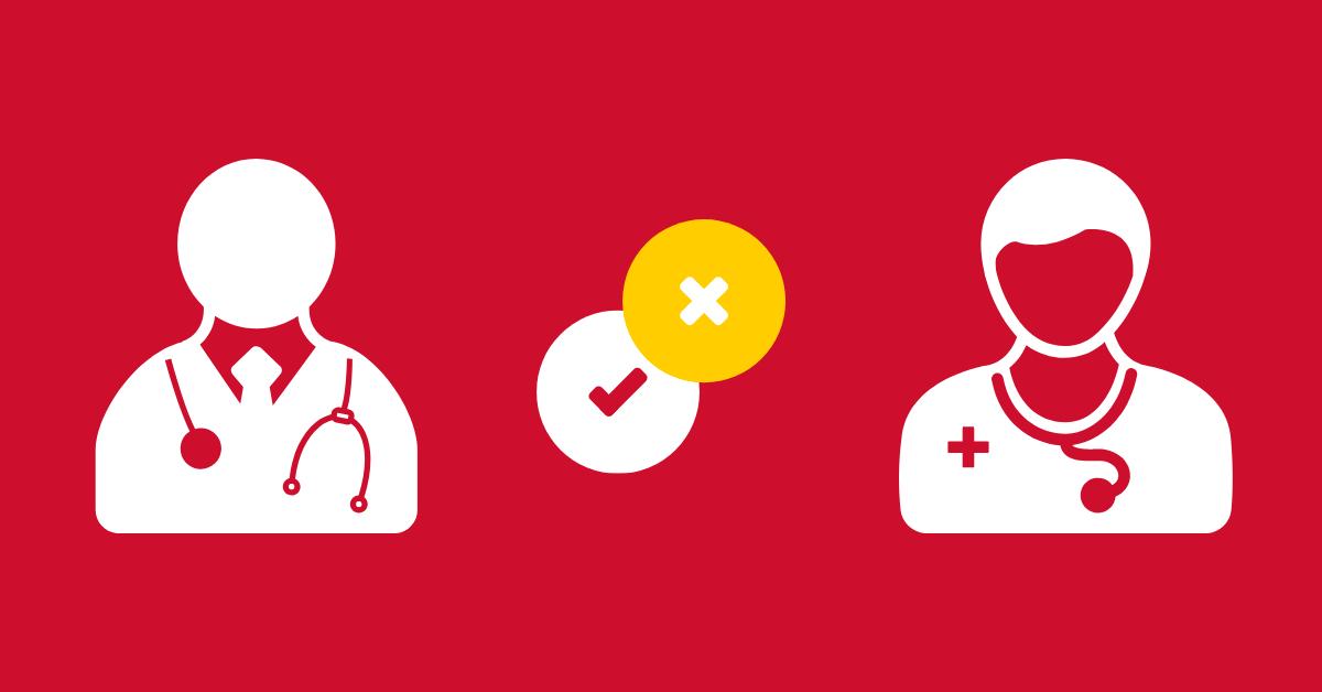 er doctor or urgent care nurse icons